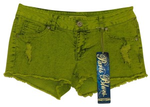 Paris Blues Cut Off Shorts Lime
