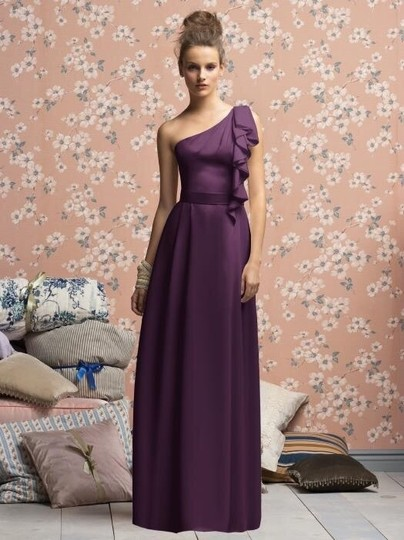 Lela Rose Eggplant Purple Lx141xx Dress