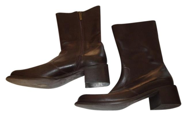 Item - Dark Brown Leather Boots/Booties Size US 9