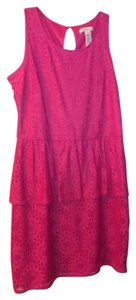 Laundry by Shelli Segal short dress Pink Summer Lace Peplum Resort on Tradesy
