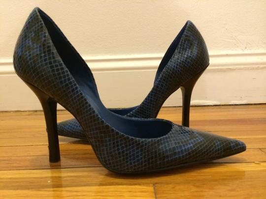 Guess BLUE SYNTHETIC Pumps