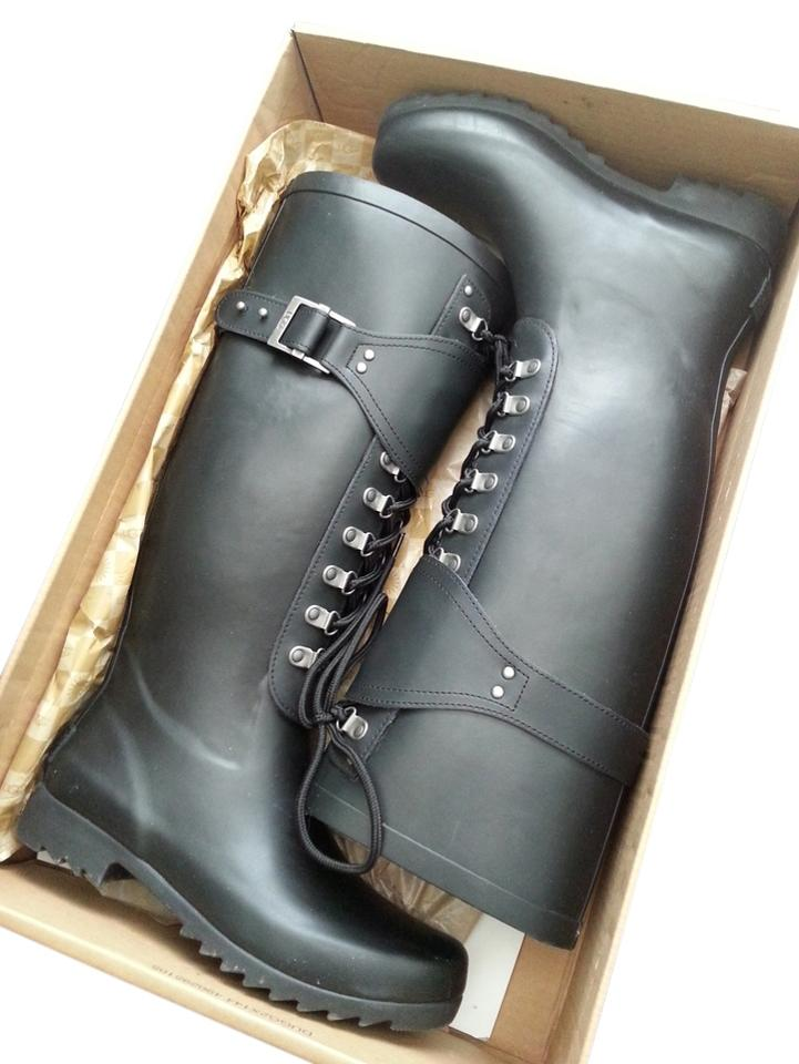 21083cd1d32 UGG Australia Black Madelynn Rain Boots/Booties Size US 6 61% off retail