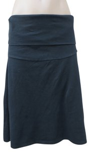 Petit Bateau Petit Bateau Maternity stretch cotton knit rollover waist skirt