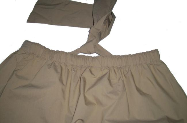 Charter Club Pull-on Style Elastic Back Slim Fit Side Pockets Hits At The Knee Skirt Beige