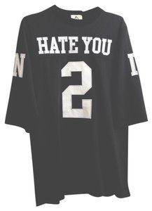 Urban Outfitters Unif Hate You 2 T Shirt Black