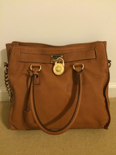 Michael Kors Mk Brown Leather Shoulder Bag