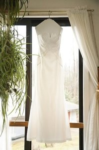 Nicole Miller Shantung Silk Strapless Gown Wedding Dress