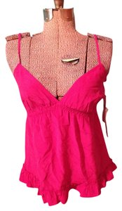 Twelfth St. by Cynthia Vincent Silk Adjustable Straps Top Fuscia