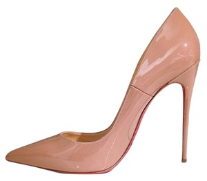 Christian Louboutin Patent Leather Stiletto Heels So Kate Size 37 nude Pumps