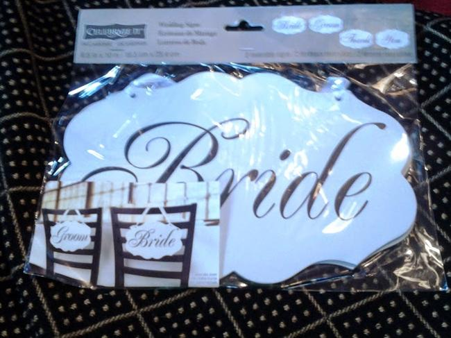 Item - White with Black Script Writing Reversible Wedding Thank You & Bride and Groom Sign