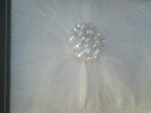 Feathers Crystals & Pearls Flower Girl Basket By Bride's Magazine