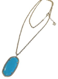 Kendra Scott Kendra Scott Rae Necklace Turquoise/Gold 30