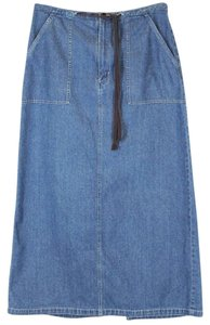 Eddie Bauer Denim Size 10 Maxi Skirt Blue