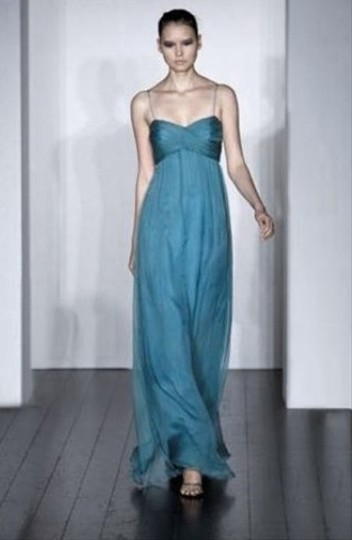 Amsale Ocean Crinkled Chiffon G630c - Long Formal Bridesmaid/Mob Dress Size 4 (S)