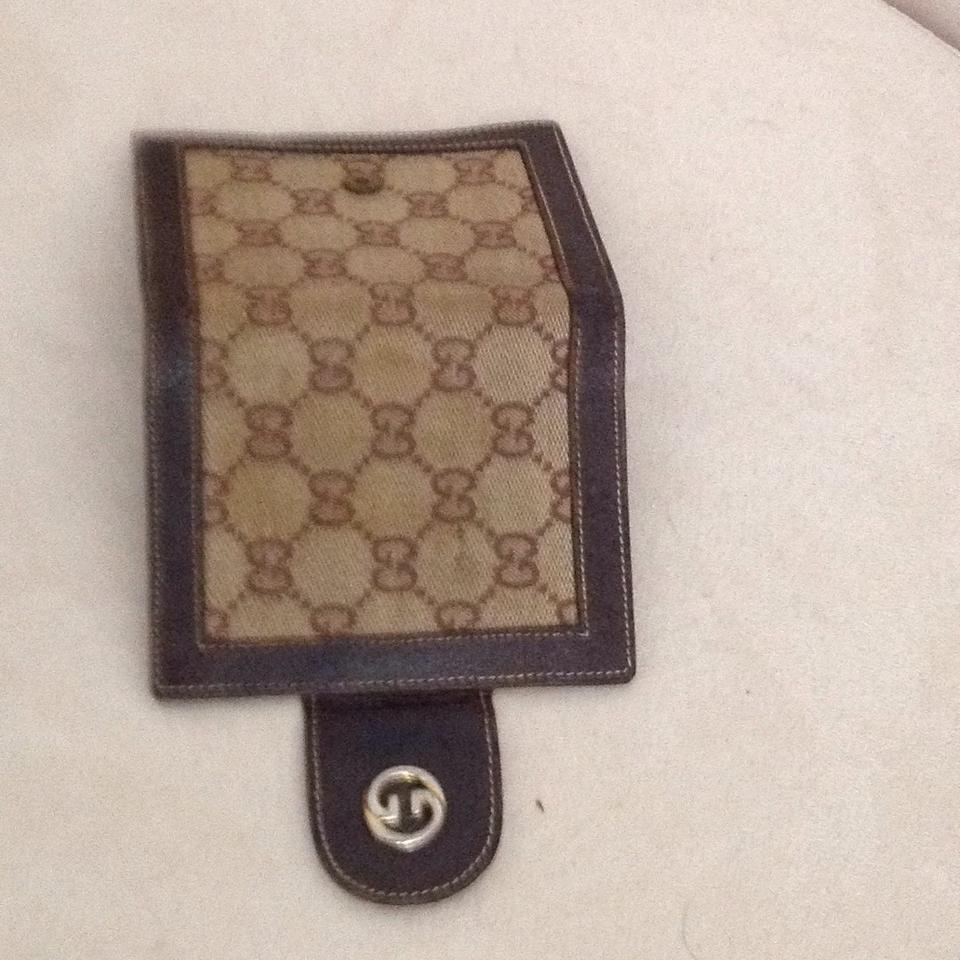 Gucci Brown Vintage Mini Credit Card Holder Business Card Holder ...