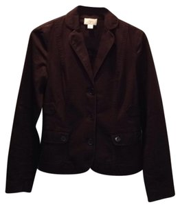 Ann Taylor LOFT Jacket Cropped Brown Blazer