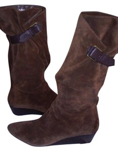 Nine West Wedge Brown suede Boots