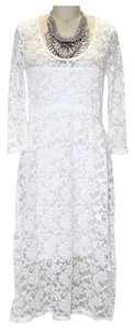 Free People Lace Lace Lace Trim Dress