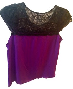 Express Top Purple and black