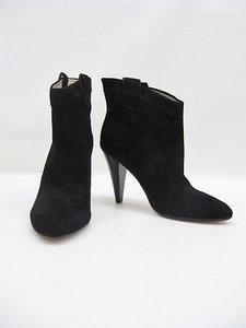Ella Moss Suede Benny Fashion Ankle Heels Black Boots