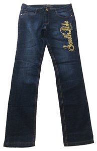 South Pole Collection Straight Leg Jeans-Dark Rinse