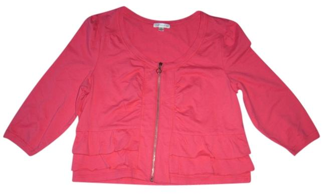 Item - Pink Jacket Touch Of Terry Zip-front Blazer Size 18 (XL, Plus 0x)
