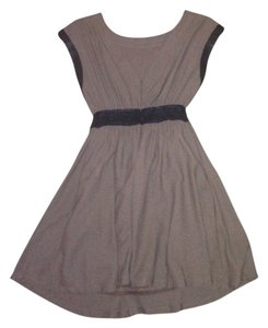 Double Zero short dress Brown/Black on Tradesy