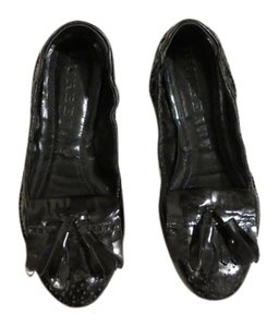 Burberry Patent Leather Leather BLACK Flats