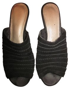 Me Too Slip Heel Wedge black Mules
