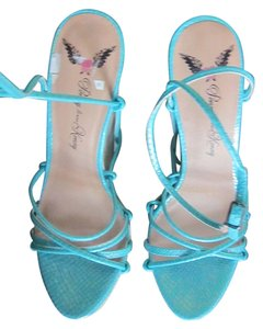 Penny Loves Kenny Hidden Ultra High Turquoise Platforms