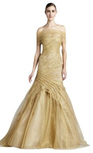 Monique Lhuillier Couture Trumpet Lace Dress