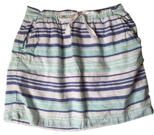 Gap Linen Mini Mini Skirt Blue, multi
