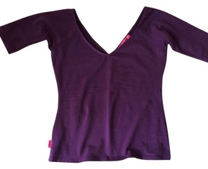 Betsey Johnson Betseyville New Like New Small Extra Small Fitted Sexy Top Purple