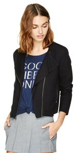 Talula Casual Jacket Zip Up Drapey Black Blazer