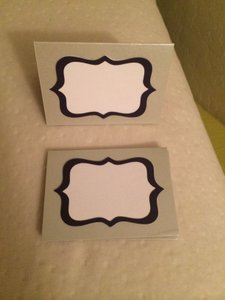 Silver/Purple 39 Custom-made Escort/Placecards