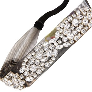 Black Crystal Mesh Hair Band
