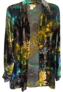 Coldwater Creek black with print Jacket