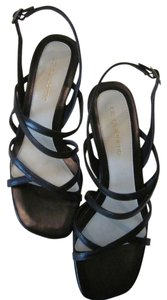 Liz Claiborne Leather Small Heel black Sandals