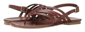Cole Haan Tan Leather Woven Sequoia Sandals