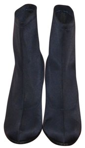 Markon Dark Textile 3.5 Inch Heel Ankle Hugs Foot In Comfort Round Toe Comp. Sole Navy Boots