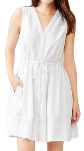Gap short dress White Sleeveless V-neck Cotton on Tradesy