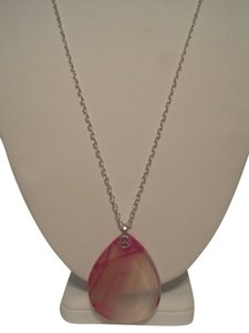 ARTISAN PINK MADAGASCAR AGATE GEM NECKLACE NEW