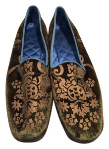 Gucci Limited Edition Velvet Green Flats