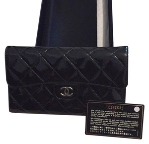 Chanel Chanel Patent Leather Quilted Wallet