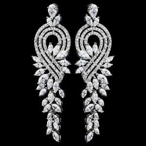 Elegance By Carbonneau Marquise Cz Wedding And Formal Earrings