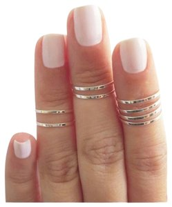 4 Knuckle Rings (Silver)