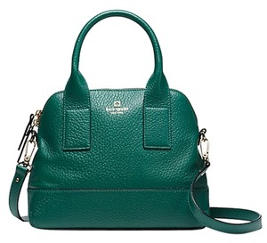 Kate Spade Leather Gold Hardware New York Classic Tote in Brilliant Dark Emerald