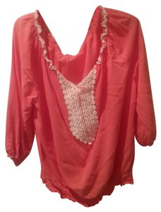 Sunny Leigh Embroidered Top Orange