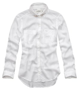 abercrombie kids Classic Top white