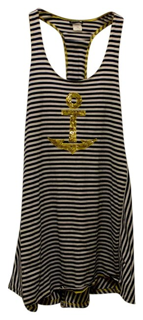 Item - Navy/White Top-sider Front Lines Sundress - Anchor Above Knee Short Casual Dress Size 2 (XS)